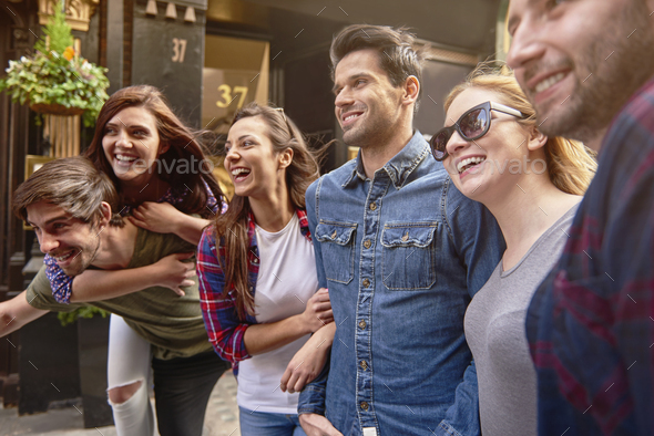 Good mood and good company - Stock Photo - Images