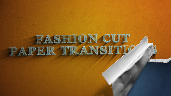 Fashion Cut | 25 Paper Transitions Download