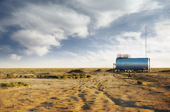 Industrial facility outdoors - Stock Photo - Images