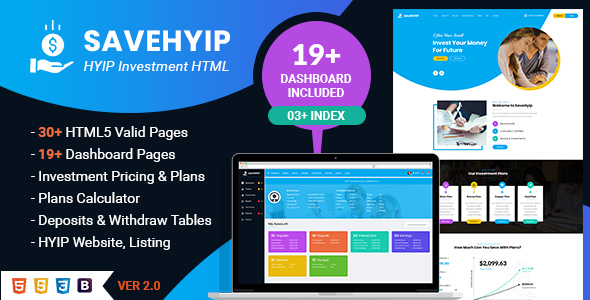 SaveHyip | HYIP Investment Business Website HTML5 Template by webstrot