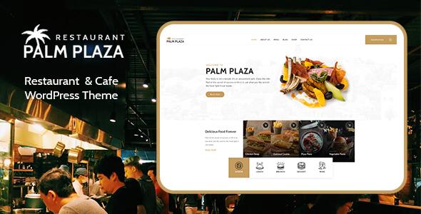 Incredible Palmplaza - Restaurant & Cafe WordPress Theme