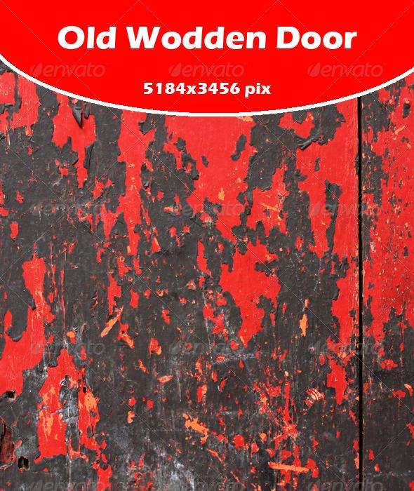Red Wooden Door - Industrial / Grunge Textures