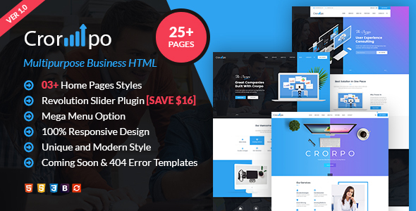 Incredible Crorpo | Business  Multi-Purpose HTML5 Template