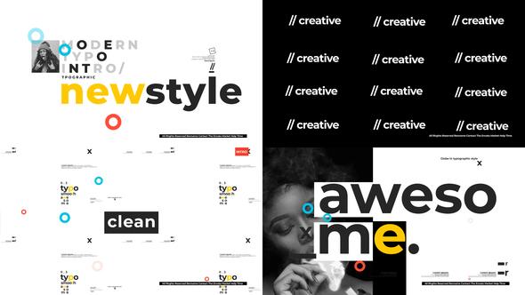 Modern Typographic Intro Download
