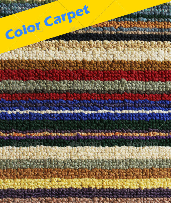Vivid Color Carpet - Fabric Textures