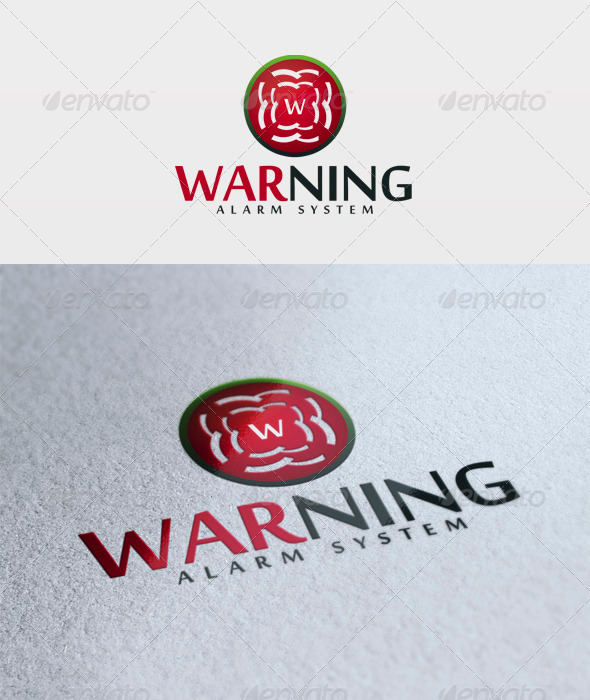 Warning Logo - Vector Abstract