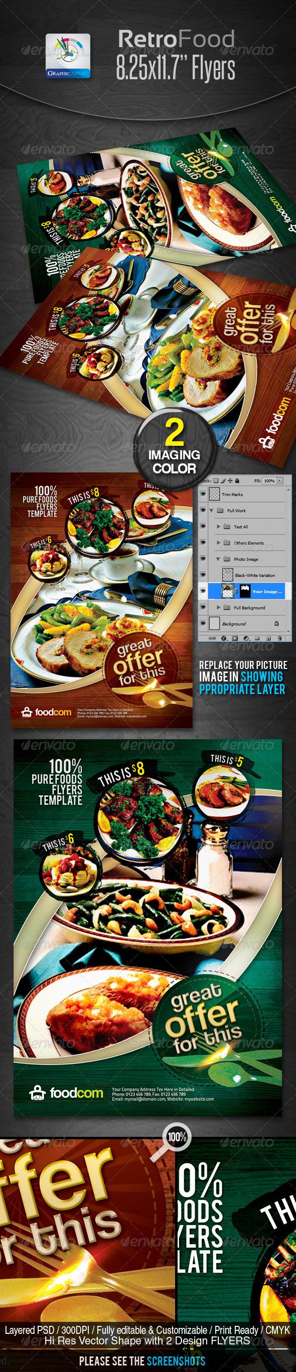 Retro Restaurant Food Flyers - Restaurant Flyers