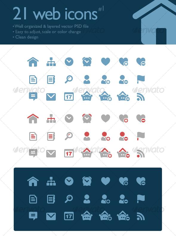 21 web icons - Web Icons
