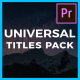 Universal Titles - VideoHive Item for Sale