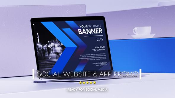 Social Website Promo & App Promo Download