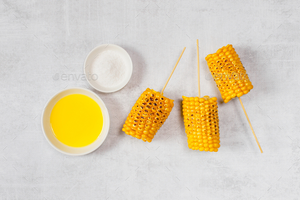 Grilled Corn on the Table - Stock Photo - Images