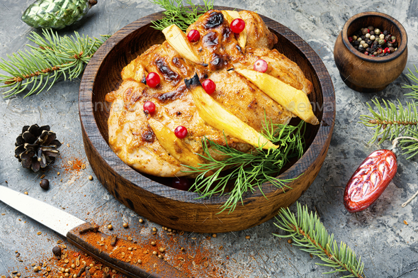 Fried chicken with mango - Stock Photo - Images