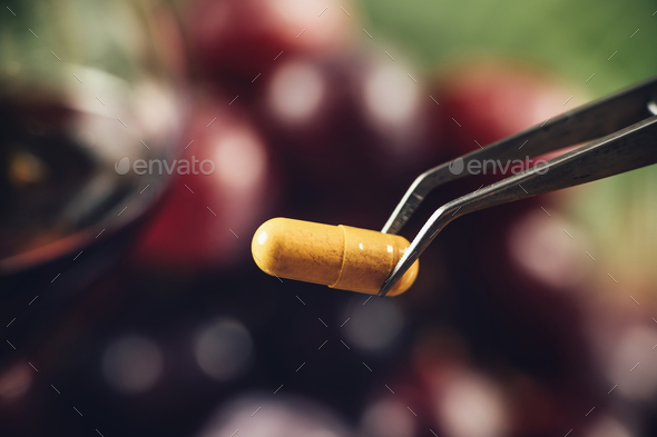 Resveratrol Supplement - Stock Photo - Images
