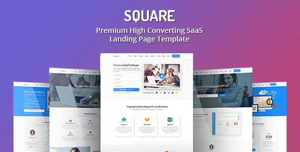 Square - Premium High Converting SaaS Landing Page Template by Epic-Themes