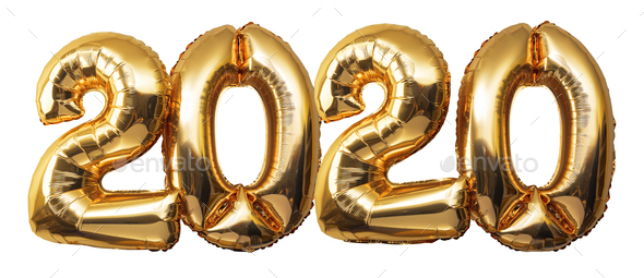 Christmas New Year 2020 Numbers Balloons - Stock Photo - Images
