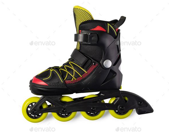 Inline skates. Isolated over white - Stock Photo - Images