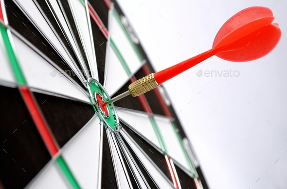 arrows and darts target - Stock Photo - Images