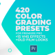 420 Cinematic Color Presets, 15 VHS Video Effects, Old Film Looks - VideoHive Item for Sale
