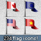 Unique World Country Flags Icons! - GraphicRiver Item for Sale