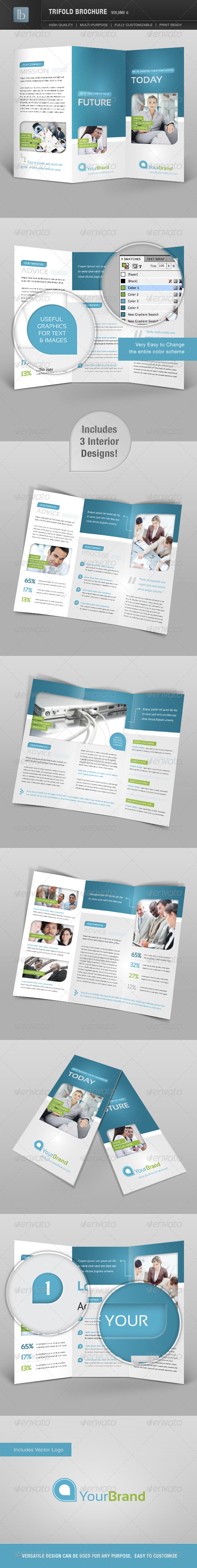 Trifold Brochure | Volume 6 - Brochures Print Templates