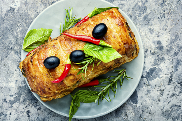Meat Terrine for Christmas - Stock Photo - Images