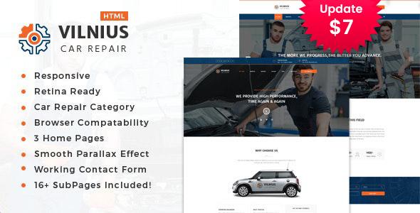 Vilnius || Auto Mechanic & Car Repair Template