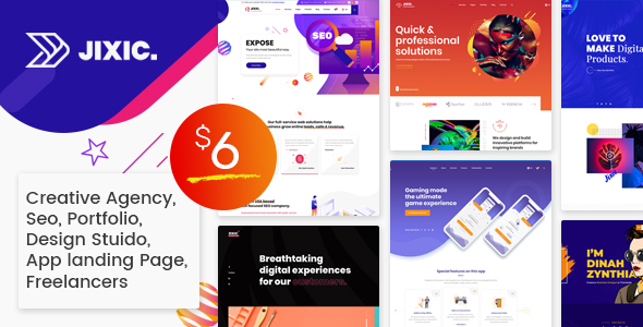 Exceptional Jixic - Creative Agency & Multipurpose HTML Template