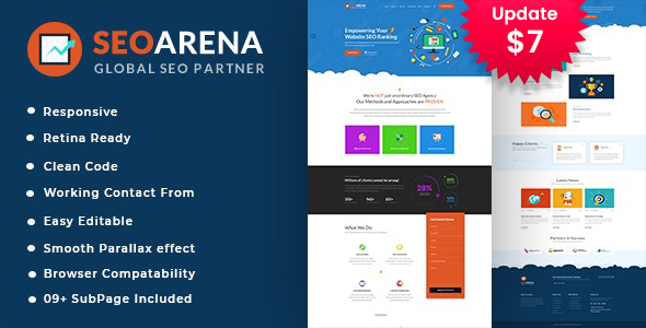 Seoarena - SEO /Digital Agency HTML5 Template