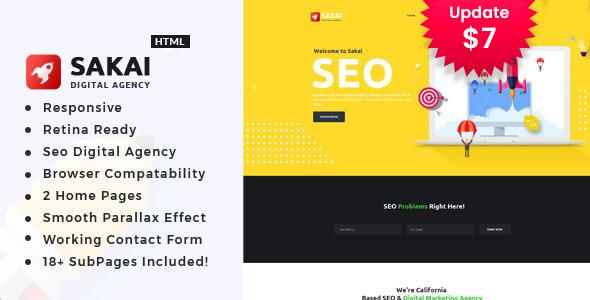 Sakai - Digital Marketing HTML Template