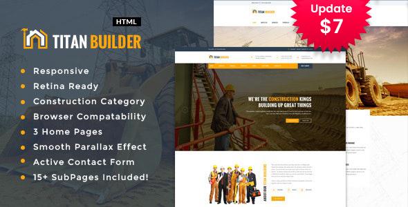 Titan Builders :  Construction Business HTML Template