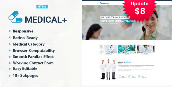 Medical Plus - Health Care HTML Template