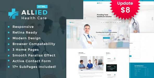 Allied - Health And Medical HTML Template