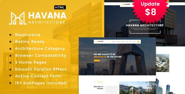 Havana -  Architecture and Interior HTML Template