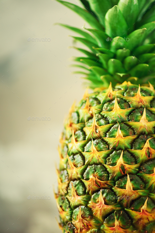 Pineapple fruit background. Close up of tropical pineapples texture. Summer, holiday concept. Raw - Stock Photo - Images