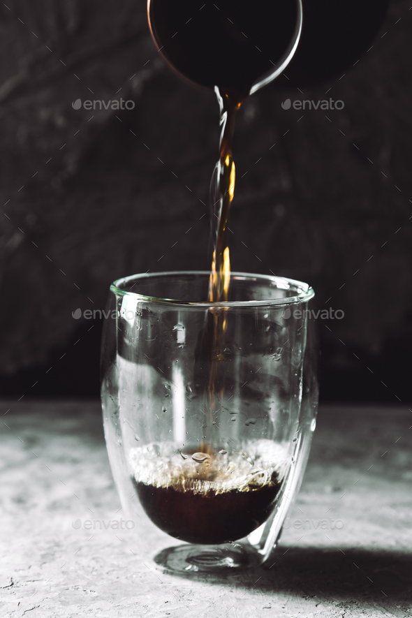 Pouring brew coffee - Stock Photo - Images
