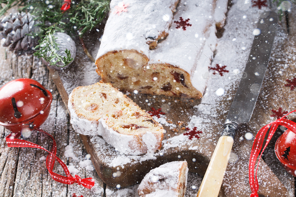 Dresdner Stollen Christmas Baking - Stock Photo - Images