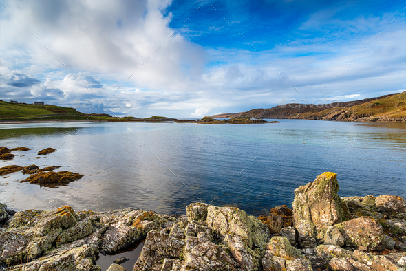 The beach at Scourie - Stock Photo - Images