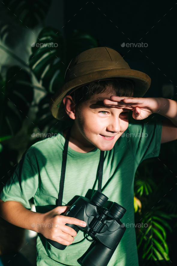 Safari boy - Stock Photo - Images