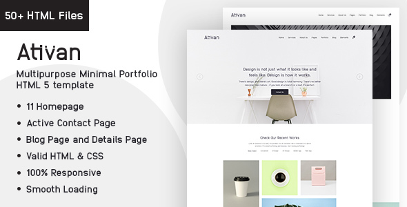 Ativan HTML5 Template For Creative Agency by voidcoders