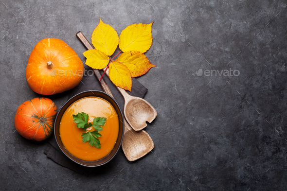 Pumpkin soup - Stock Photo - Images
