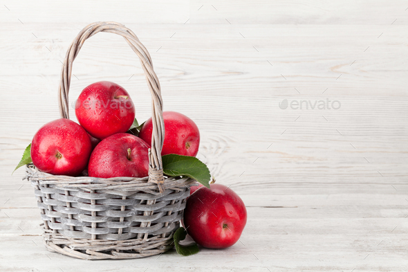 Ripe red apples - Stock Photo - Images