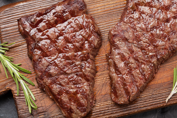 Grilled beef steak - Stock Photo - Images