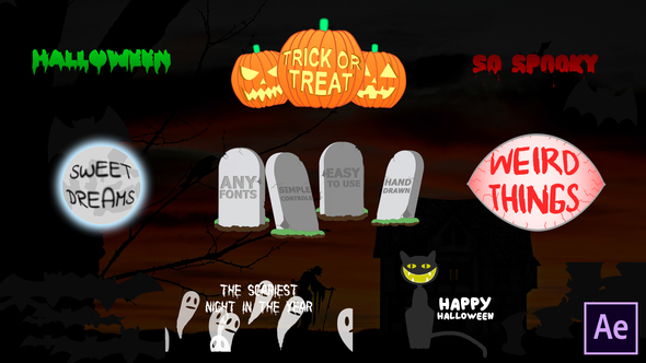 Halloween Titles | After Effects Download