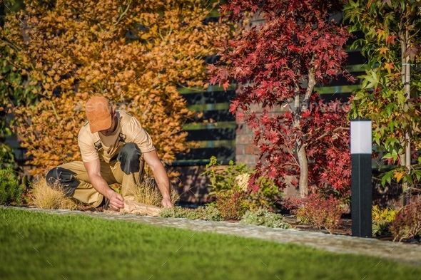 Fall Season Garden Works - Stock Photo - Images