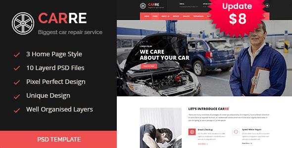 CARRE - Auto Mechanic & Car Repair PSD