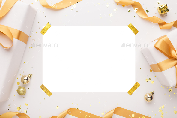 White frame for photo or text on background - Stock Photo - Images