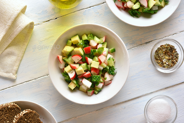 Healthy vegetable salad - Stock Photo - Images