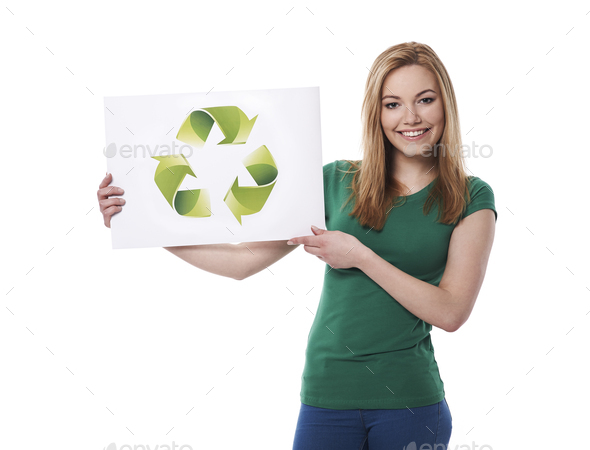 Stay green and support ecology - Stock Photo - Images