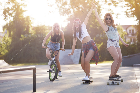 Girls just want to have fun - Stock Photo - Images
