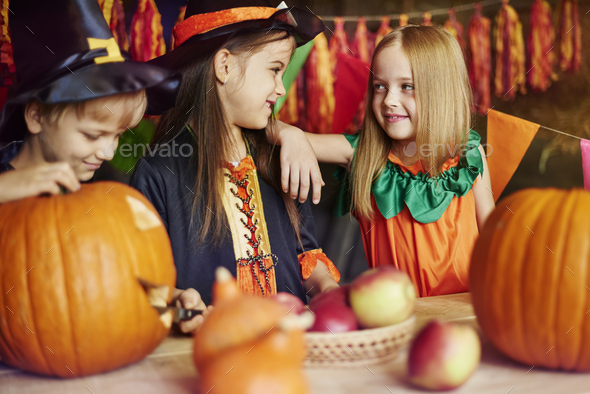 What will be craved on our pumpkin? - Stock Photo - Images